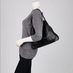 Authentic Gucci Black Leather Britt Medium Hobo